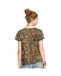 Denim & Supply Ralph Lauren - Natural Beaded Camo T-Shirt - Lyst