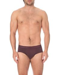 Zimmerli | Purple Melange Jersey Briefs for Men | Lyst