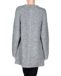 MSGM - Gray Full-length Jacket - Lyst