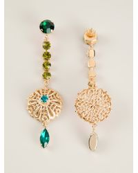 Silvia Gnecchi - Metallic Embellished Earrings - Lyst