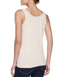 Johnny Was - White Scoop-neck Cotton Tank - Lyst