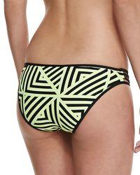 Seafolly - Yellow Pop Striped Strappy Swim Bottom - Lyst