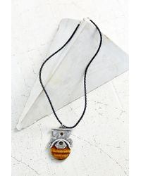 Urban Outfitters | Black Stones Of Cairo Pendant Necklace | Lyst