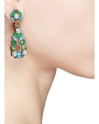 Aerin - Green X Erickson Beamon Crystal Teardrop Earrings - Lyst