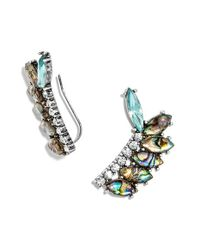 BaubleBar - Metallic 'narnia' Ear Crawlers - Abalone/ Antique Silver - Lyst