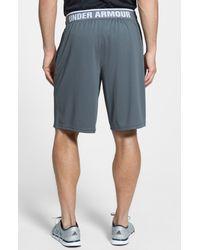 Under Armour | Gray 'reflex' Heatgear Mesh Knit Shorts for Men | Lyst