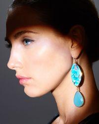 Devon Leigh | Blue Turquoise Double-Drop Earrings | Lyst