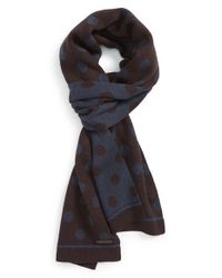 Ted Baker | Purple 'Sponek' Reversible Polka Dot Scarf for Men | Lyst