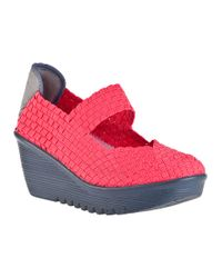 Bernie Mev | Pink Lulia Wedge Coral Fabric | Lyst