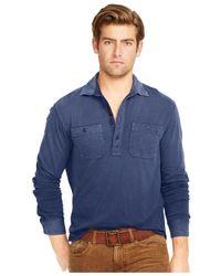 Polo Ralph Lauren   Blue Jersey Pullover Workshirt for Men   Lyst