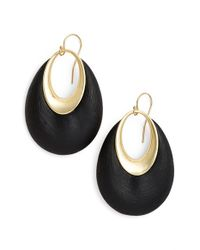 Alexis Bittar - Metallic 'lucite' Open Drop Earrings - Lyst