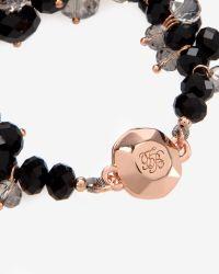 Ted Baker | Black Cluster Bead Bracelet | Lyst