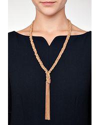 Carolina Bucci - Metallic Gold/rose Gold Woven Chain Tassel Necklace - Multicolor - Lyst