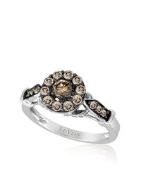 Le Vian | Metallic 14kt White Gold Brown And White Diamond Ring | Lyst