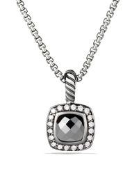 David Yurman - Metallic Petite Albion Pendant With Hematine And Diamonds On Chain - Lyst