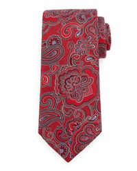 Ermenegildo Zegna - Red Paisley-print Silk Tie for Men - Lyst