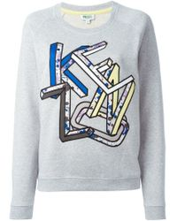 KENZO - Gray '' Sweatshirt - Lyst