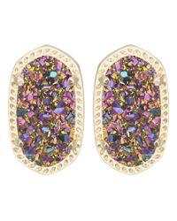 Kendra Scott | Ellie Earrings Multicolor Drusy | Lyst