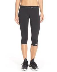 Adidas By Stella McCartney - Black Running Capris - Lyst