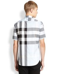 Burberry Brit - Gray Fred Checked Sportshirt for Men - Lyst