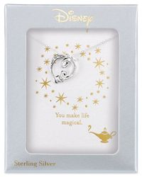 Disney - Metallic Aladdin Genie Lamp Pendant Necklace In Sterling Silver - Lyst