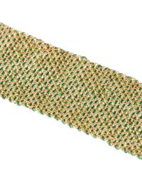 Carolina Bucci | Metallic Gold And Silk Melange Woven Bracelet | Lyst
