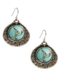 Lucky Brand   Blue Semi-precious Turquoise Drop Earrings   Lyst