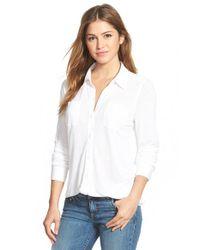 Caslon - White Long Sleeve Knit Shirt - Lyst