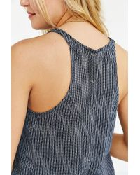 BDG | Blue Bayley Button-back Tank Top | Lyst
