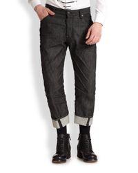 DSquared² - Black Workwear Denim Jeans for Men - Lyst