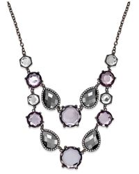 INC International Concepts | Purple Multi-stone Bib Necklace | Lyst