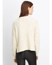Vince - Natural Multicolor Knit Crew Neck Sweater - Lyst