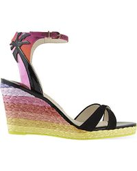 Sophia Webster | Multicolor Lucita 90 Wedge Sandals | Lyst