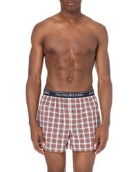 Ralph Lauren - Red Watford Checked Cotton Boxer Shorts for Men - Lyst