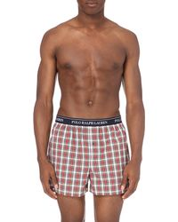 Ralph Lauren | Red Watford Checked Cotton Boxer Shorts for Men | Lyst