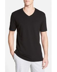 Lacoste | Black Pique V-neck Sleep T-shirt for Men | Lyst