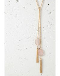 Forever 21 - Metallic Faux Stone Wrap Necklace - Lyst