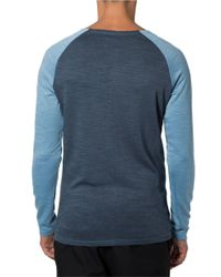 7 Diamonds | Blue Norva Two-tone Cotton Henley Tee for Men | Lyst