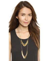 kate spade new york | Metallic Fancy Flock Double Row Necklace - Gold | Lyst