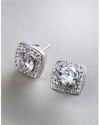 Nadri | Metallic Crystal Stud Earrings | Lyst