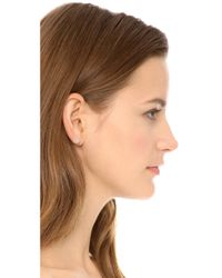 Marc By Marc Jacobs - Natural Enamel Logo Disc Stud Earrings - Lyst