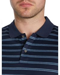 Michael Kors - Blue Stripe Polo Regular Fit Polo Shirt for Men - Lyst