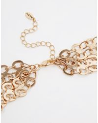 ALDO - Green Briralia Chain & Stone Necklace - Lyst