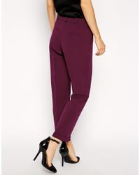 ASOS - Green Trousers In Slim Leg With Turnup - Lyst
