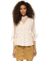Free People | Pink Hard Candy Blouse - Ecru | Lyst