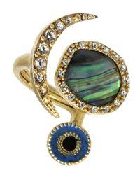 RACHEL Rachel Roy | Metallic Ring, Abalone Evil Eye | Lyst