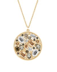 Swarovski | Metallic Dorado Medium Pendant Necklace | Lyst