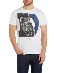 DIESEL - White 'T-Migues' T-Shirt for Men - Lyst
