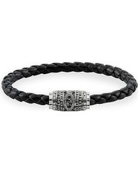 Thomas Sabo | Black Rebel At Heart Leather Unity Bracelet | Lyst