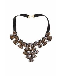 TOPSHOP - Orange Big Glass Collar Necklace - Lyst